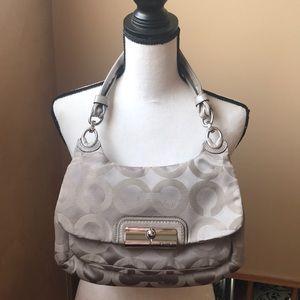 Coach shoulder bag taupe color